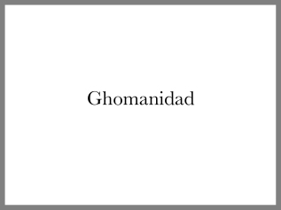 Ghomanidad